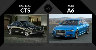 cadillac cts vs cadillac cts vs audi a6 luxury sedan showdown