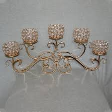 Candle Holder Chandeliers Top 5 Golden Metal Candle Holder 5 Balls