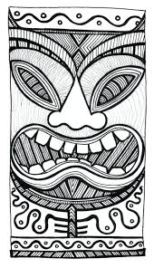 coloring pages hawaiian tiki mask coloring pages download