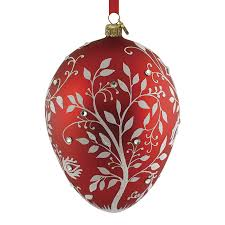 mistetoe egg reed and barton blown glass ornament