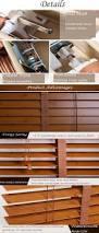 Wide Slat Venetian Blinds With Tapes Fangju Real Solid Wood Slats Wide Ladder Tape Cord Tilt