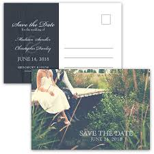 wedding postcards the date postcards wedding photo rustic navy blue