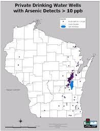 Wisconsin Zip Code Map by Arsenic Occurrence Wisconsin Dnr
