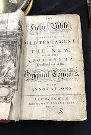 a john baskerville birmingham 1772 holy bible containing the old