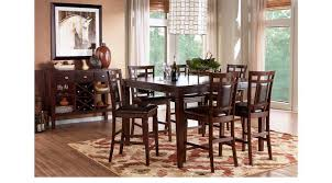 Counter Height Dining Room Chairs Cherry 5 Pc Square Counter Height Dining Room Padded Chairs