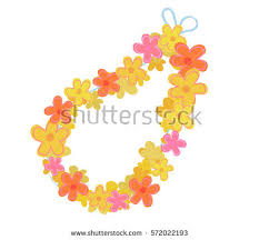 Leis Flowers - free hawaiian lei vector download free vector art stock