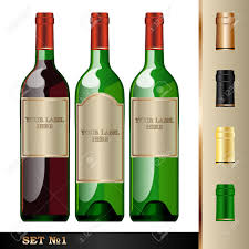 silver wine bottles vector wine bottles mockup with your label here text green bottle