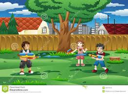 The Backyard by Kids Playing In Backyard Stock Photo Image 47606158