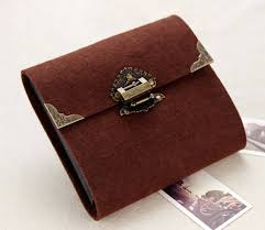 antique photo albums three size handmade antique padlock plush felt cover diy album