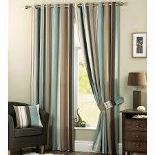 Teal White Bedroom Curtains Striped Living Room Curtains Zamp Co