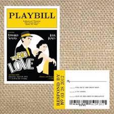 playbill wedding program the theatrical playbill wedding program idea bravo creative