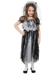 girls ghost zombie corpse bride fancy dress up halloween book week