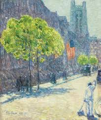 jennifer jacobsen on a childe hassam flag painting christie u0027s
