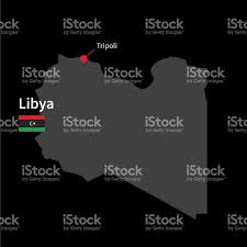 Map Of Libya Detailed Map Of Libya And Capital City Tripoli With Flag Stock