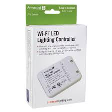 wi fi led lighting controller switching and brightness