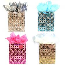 metallic gift bags large golden opportunity metallic hot st kraft gift