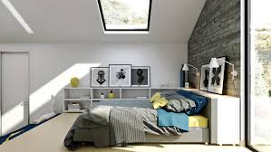 Lofted Bedroom by Homes That Use A Concrete Finish To Achieve Beautiful Results