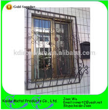 ornamental wrought iron window grills grates for outdoor wholesale