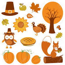 thanksgiving collection royalty free cliparts vectors and
