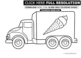 ice cream truck coloring pages clipart panda free clipart images
