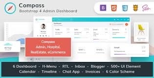 menu templates for bootstrap compass the ultimate bootstrap 4 admin dashboard by wraptheme