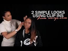 owigs clip ins two simple looks using clip ins from owigs