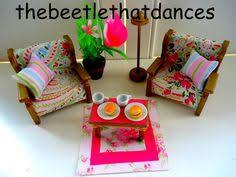 Sylvanian Families Decorated Bedroom Set Wardrobe Dresser - Sylvanian families living room set