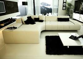 Left Sectional Sofa Collection Modern Sectional Sofa White Tos Rf 1007 White