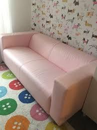 ikea klippan sofa ikea pink leather klippan sofa in abertillery blaenau gwent