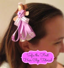 sofia ribbon sculpture hair clip tiptoe fairy
