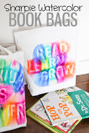 sharpie watercolor book bags honeybear lane