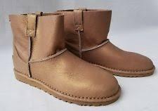 s ugg australia mini leather boots ugg australia unlined mini metallic gold s 1018412