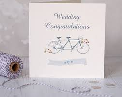 free wedding cards congratulations wedding card tandem bicycle etsy uk
