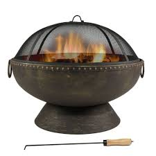 Chiminea Fire Pit Amazon Com 30 Inch Fire Bowl Fire Pit With Handles And Spark