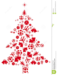 red vector christmas tree stock photos image 35549763