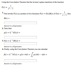 laplace transform table calculator solved using the convolution theorem find the inverse lap