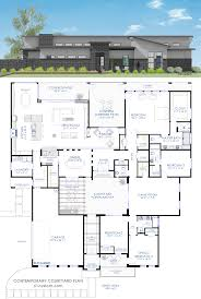 house plans with a courtyard contemporary courtyard house plan 61custom modern house plans