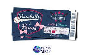gender reveal invitation template baby gender reveal baseballs or bows gender reveal idea