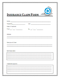 Insurance Claim Form Template insurance claim form a to z free printable sle forms