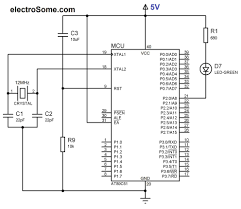 led blinking using 8051 microcontroller and keil c at89c51