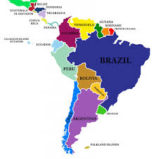 a map of south america a map of central and south america with the countrys from within