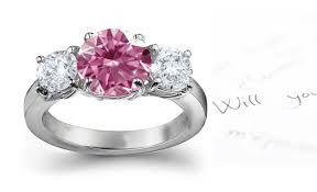 Pink Diamond Wedding Rings by Pink Sapphire And Diamond Halo Engagement Ring In Platinum Sndgems