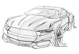 see exclusive sketches of the 2015 ford mustang photos gq