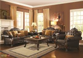 Patterned Living Room Chairs by Formal Living Room Furniture Green Brown Ivory Comfy Cushion