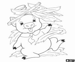 three little pigs coloring pages printable games