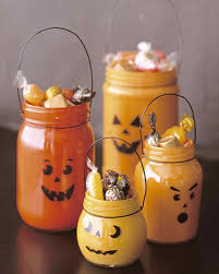 Halloween Cupcakes In A Jar by Indoor Halloween Decorations Martha Stewart