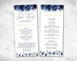 cheap wedding program navy church programs etsy
