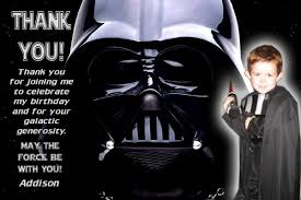 wars thank you cards darth vader wars thank you card