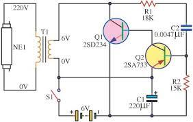 easy power emergency light easy 6v fluorescent light electronic circuit