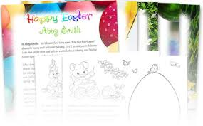 free easter letter and coloring page